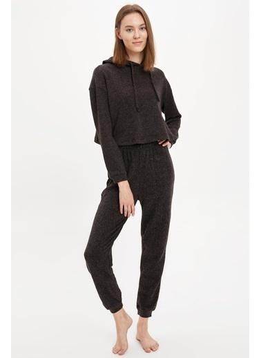 DeFacto Pijama Takım Antrasit